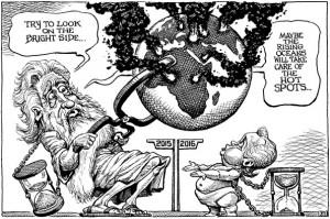KAL -Cartoonist van The Economist bekijkt 2016 met twijfel en hoop.