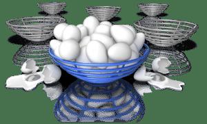 Zelf met Pasen leg je beter niet alle eieren in dezelfde mand.