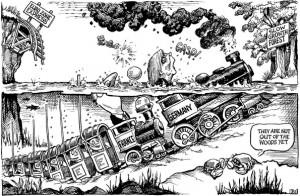 Welke richting gaat deze locomotief uit?