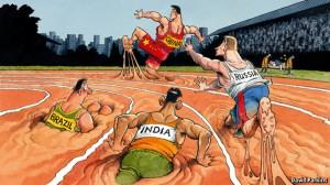 Nieuwe economische landen lossen al een tijdje de kopgroep