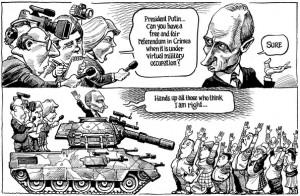 Visie van KAL (The Economist) op referendum in de Krim