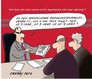 cartoonist ziet bui al hangen