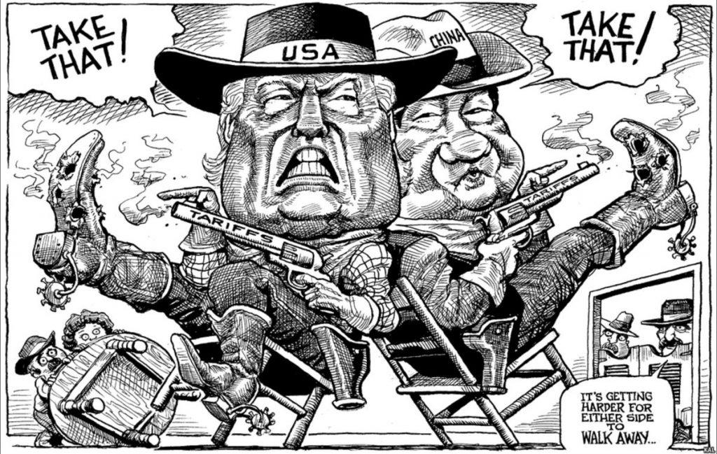 KAL en protagonisten in de handelsoorlog